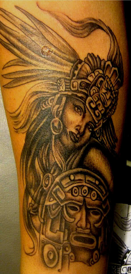 Awesome Aztec Girl Tat...