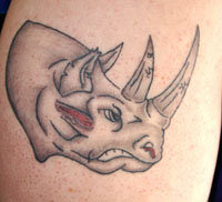 Awesome Hippo Animated Tattoo