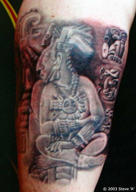 Aztec Stone Carvings Tattoo