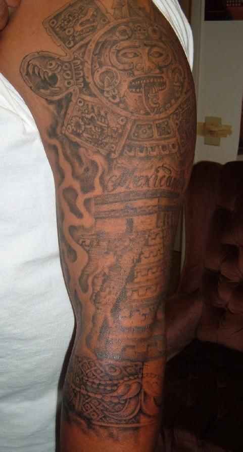 Aztec Tattoo On Arm