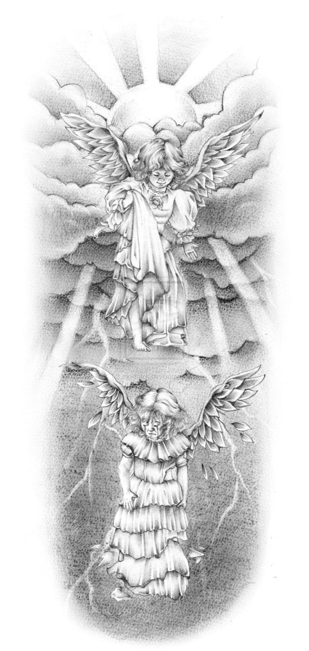 Baby Angels Tattoo Design