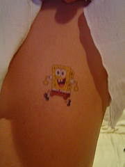 Baby Spongebob Tattoo Design