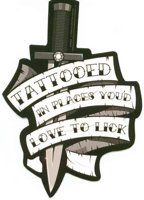 Banner & Knife Tattoo Design
