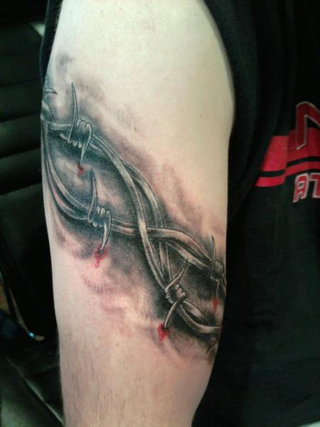 Barbed Wire Armband Tattoo For Men