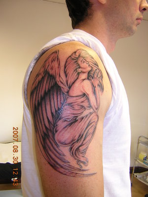 Angel Girl Tattoo For Shoulder