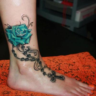 Beautiful Ankle Tattoo Designs For Girls