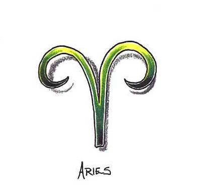 Beautiful Aries Symbol Tattoo Design