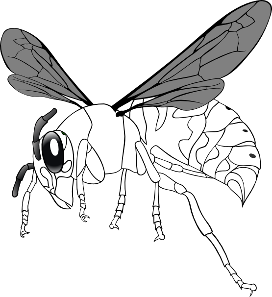 Bee Line Art Tattoo Design