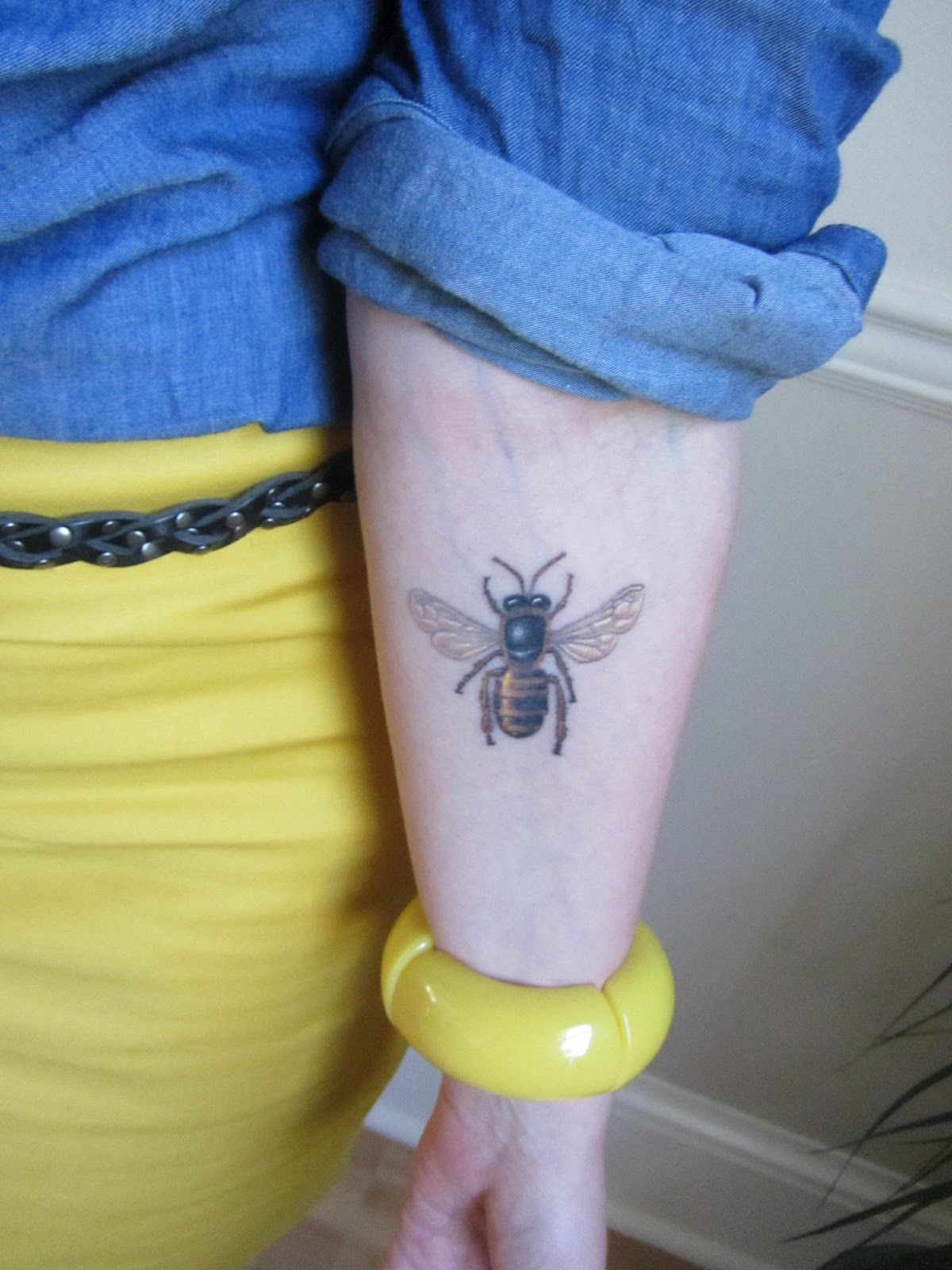 Bee Tattoo On Forearm