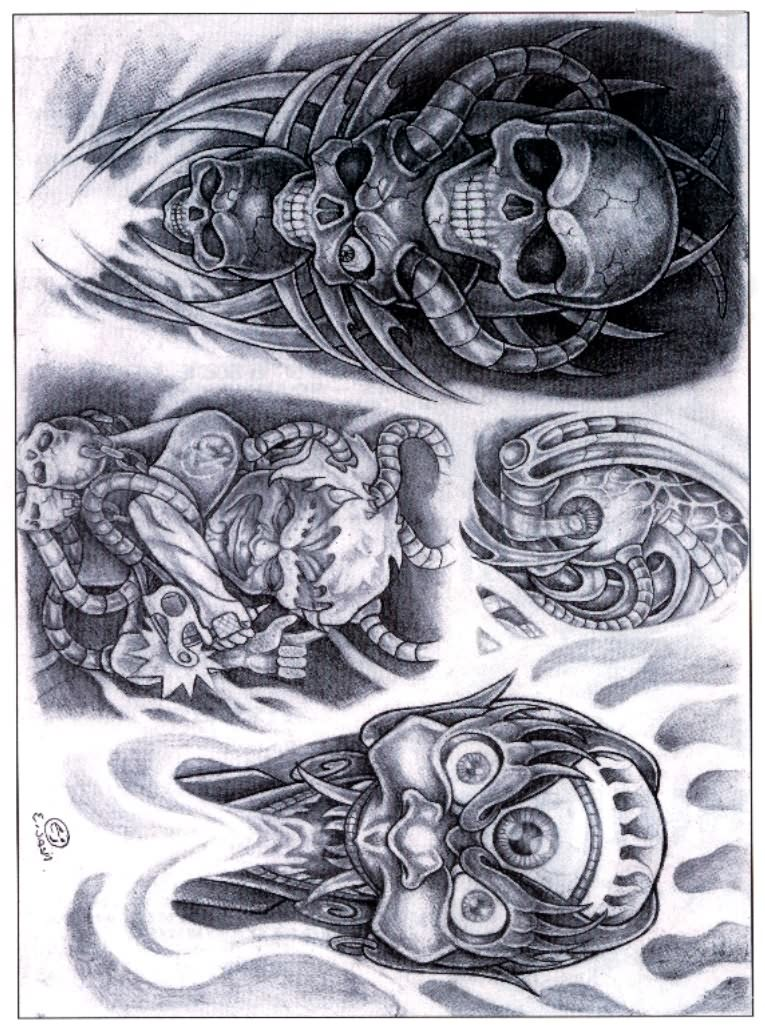 Biomechanical Tattoos Designs And Ideas Page 14