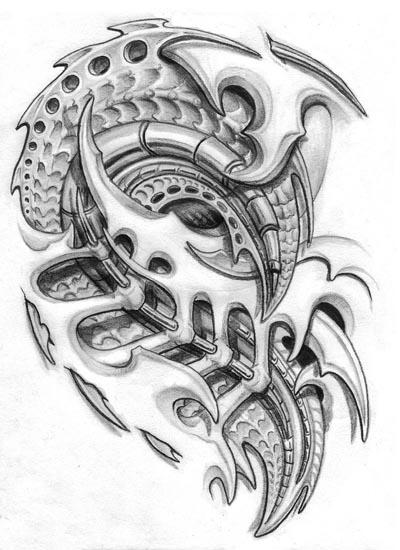 Biomechanical Tattoo Design Tattoobitecom