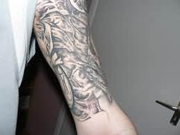Biomechanical Tattoo For Arm