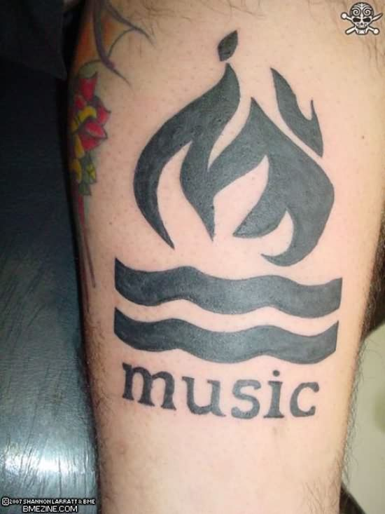 Black Ink Music Band Tattoo