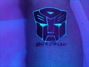 Blacklight Autobot Tattoo
