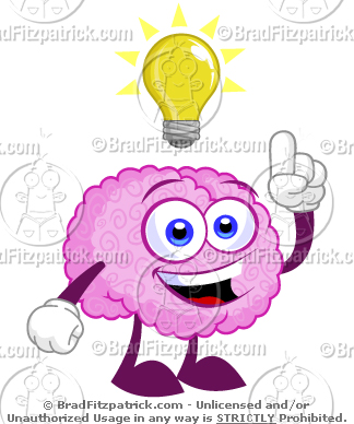 Brain Light Bulb Tattoo Design