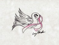 Breast Cancer Dove Tattoo Design