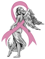Breast Cancer Girl Tattoo Design