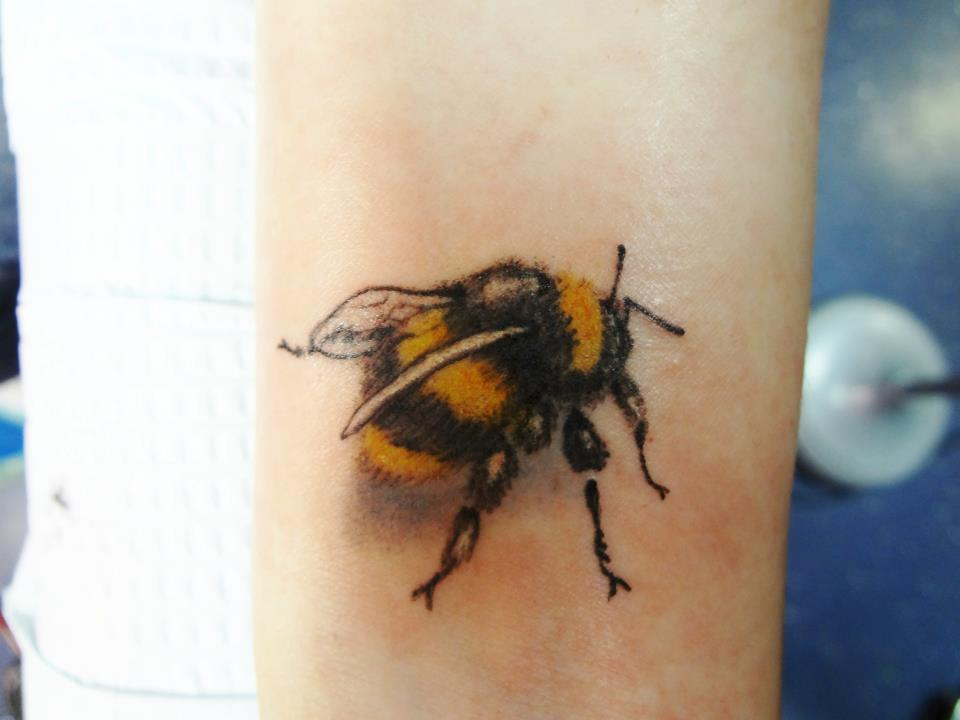 Brilliant Bee Tattoo Design