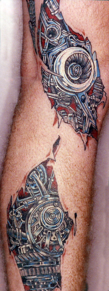 Brilliant Biomechanical Tattoo