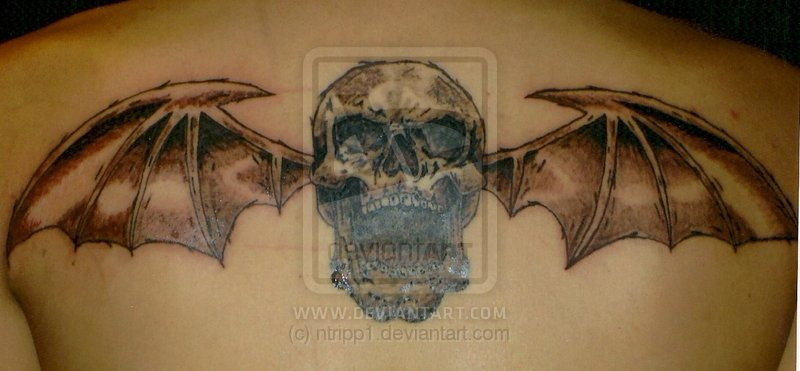 Brilliant Deathbat Tattoo