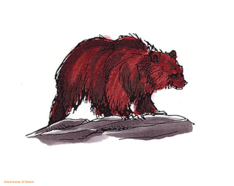 Brown Bear Tattoo Design