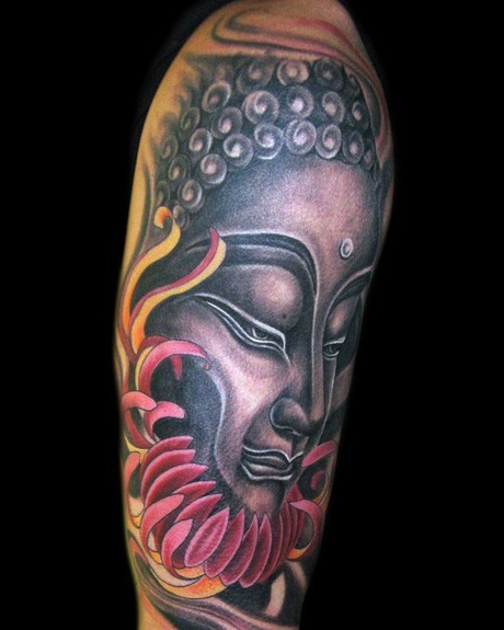 Buddha Face Tattoo Design