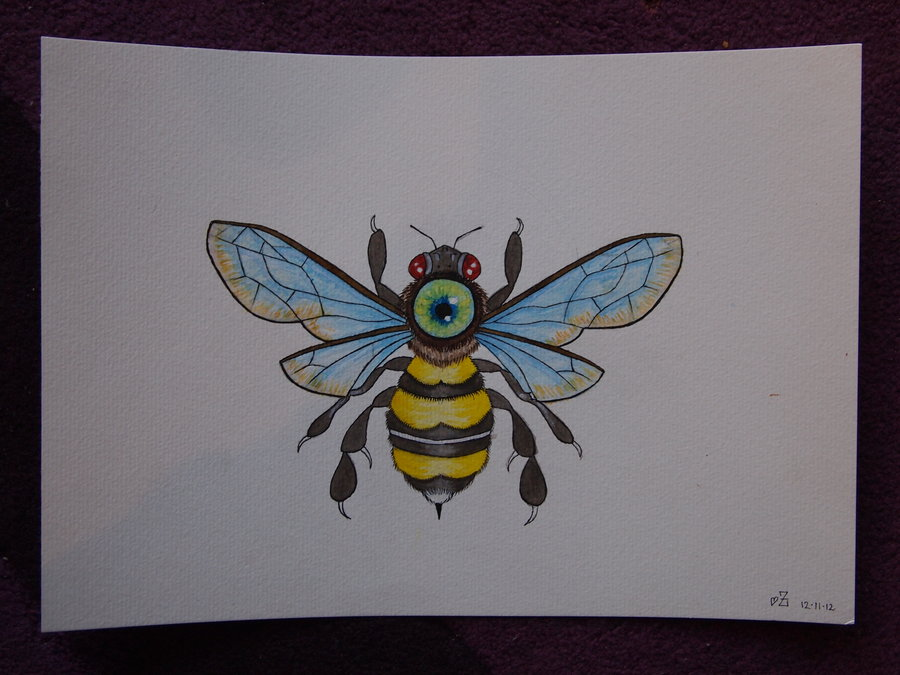 Colorful Bumblebee Tattoo Picture