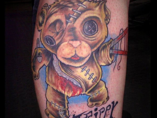 Creepy Bear Tattoo