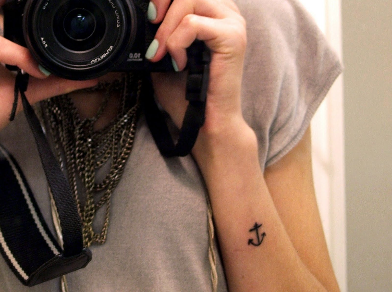 Cute Anchor Tattoo