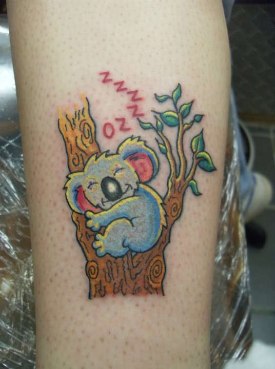 Cute Koala Bear Tattoo Design