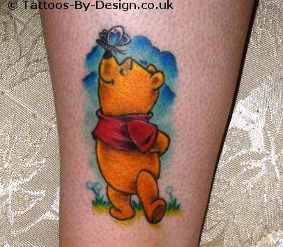 Cute Pooh Bear Tattoo Design