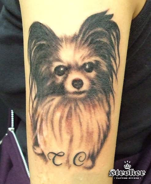 Cute Puppy Dog Arm Tattoo