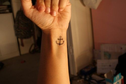 Cute Wrist Anchor Symbol Tattoo Design