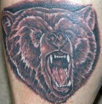 Dangerous Bear Tattoo Design