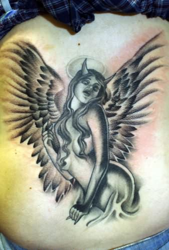 Devil Angel Girl Tattoo Design