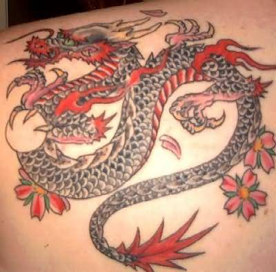 Dragon Animated Colourful Tattoo