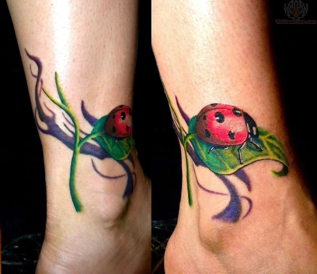 Dragonfly Ankle Tattoo Design