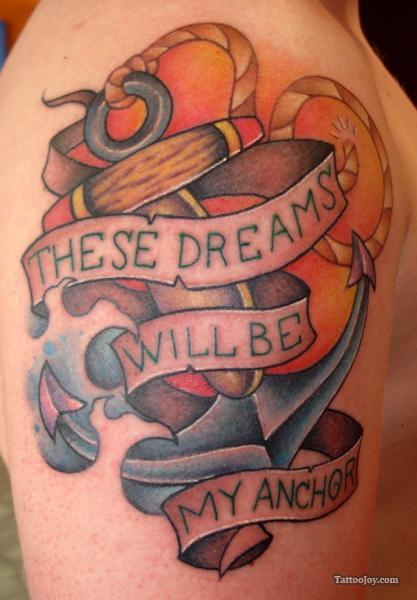 Dreams Anchor Tattoo