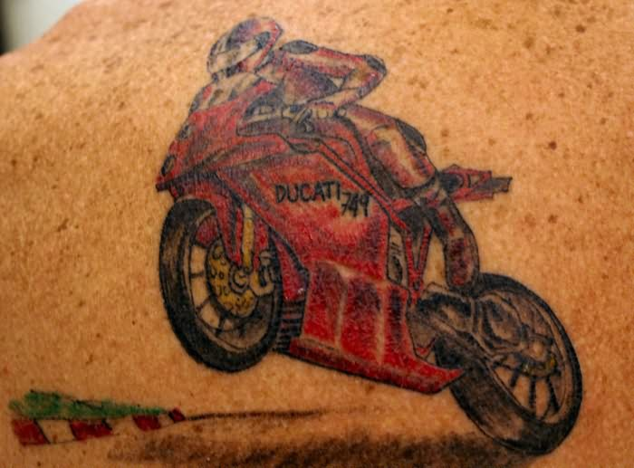 Ducati Racing Bike Tattoo Design