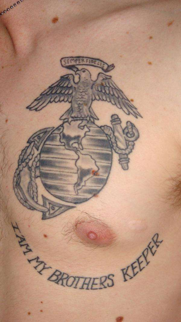 Eagle Globe & Anchor Tattoo