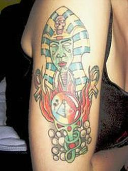 Egyptian Biceps Tattoo Design