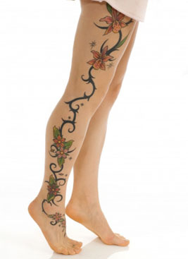 Fabulous Flower Tattoo For Ankle & Leg