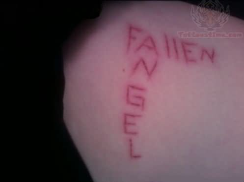 Fallen Angel Scarification Tattoo