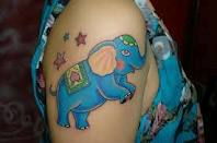 Famous Animated Elephant Tattoo Design