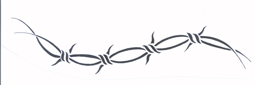 Barbed Wire Armband Tattoo Design