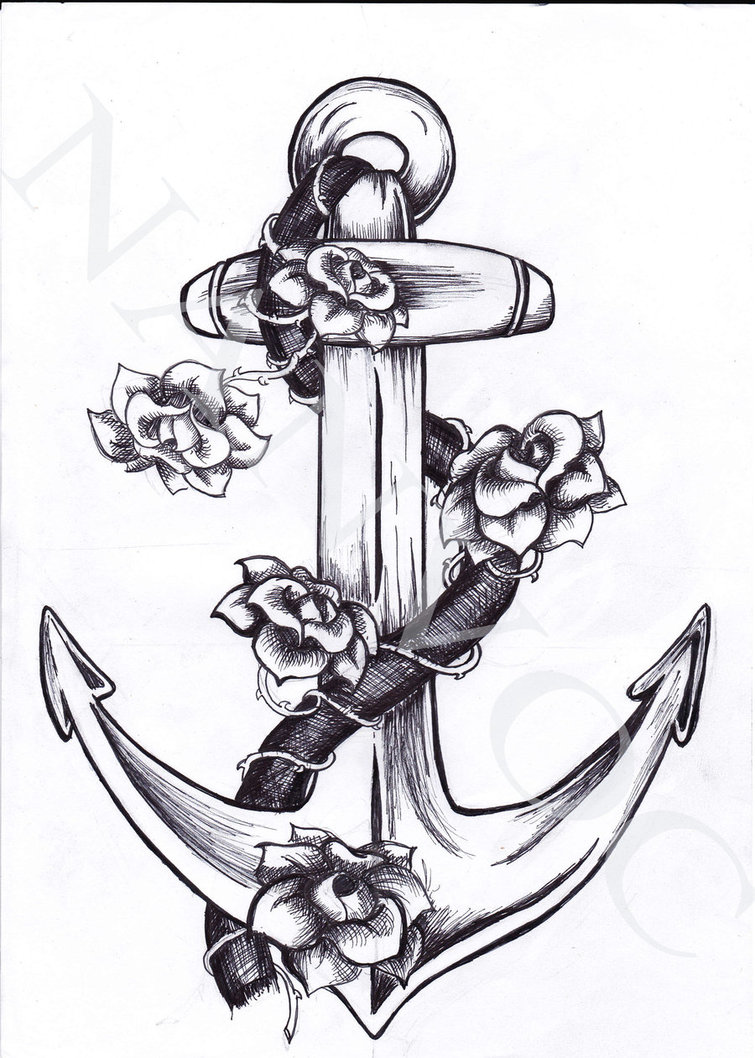 Fantastic Design Of Anchor Tattoo