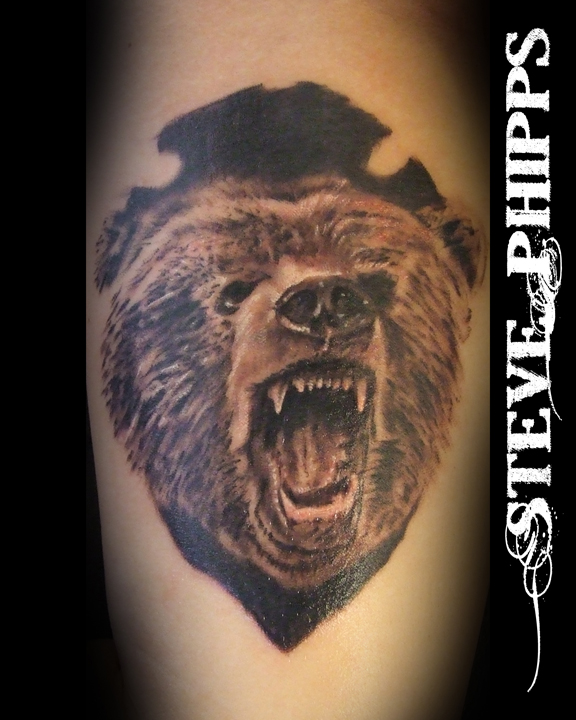 Roaring Bear Tattoo Design
