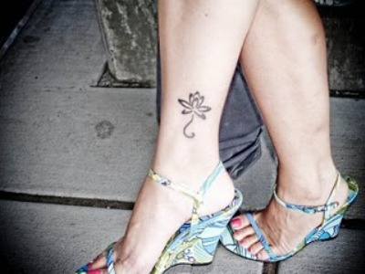 Flower Ankle Tattoo Designs For Girls