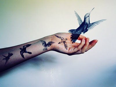 Flying Birds Tattoo On Forearm