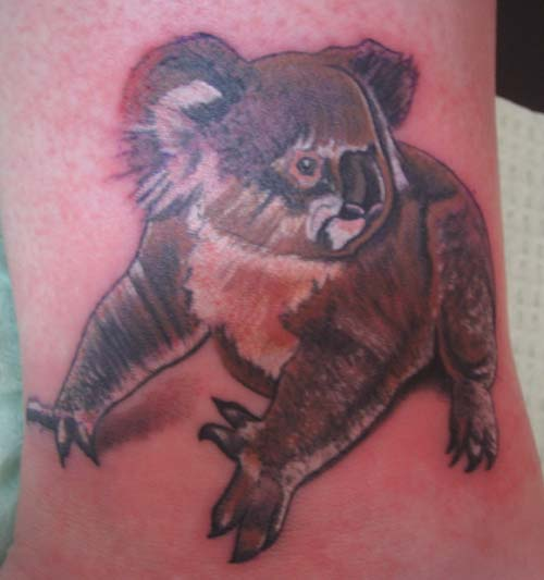 Funny Bear Tattoo Design